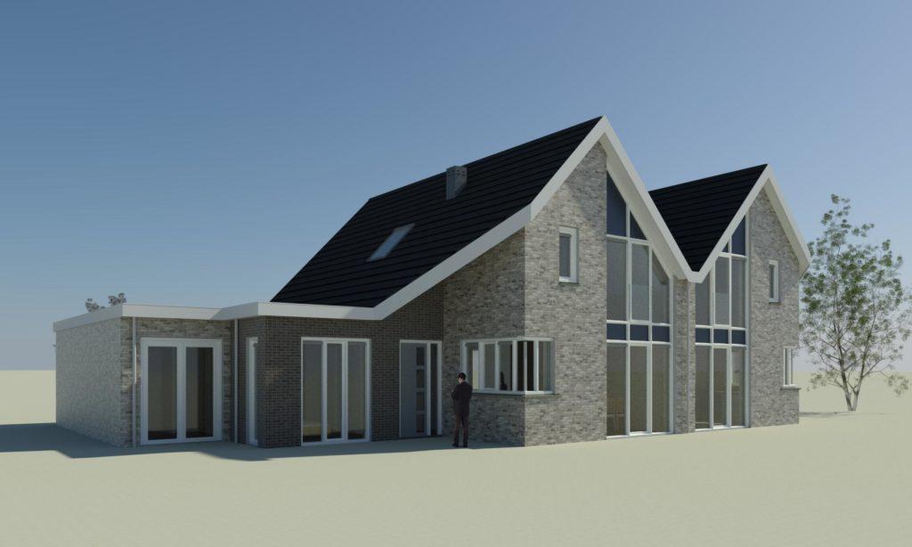 3D Dubbel woonhuis Alphen aan de Rijn