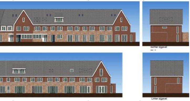 Aanzichten deel 1 flex-woningen Westerheul IV te Vinkeveen